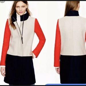 Jcrew limited edition colorblock wool coat